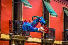 Crazy looking art pieces in Oaxaca.