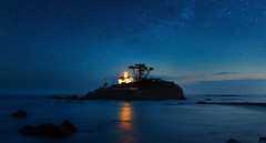 Battery Point Lighthouse, Crescent City, CA. (Sveta Imnadze) Tags: ca nightphotography lighthouse stars nightsky crescentcity batterypointlighthouse