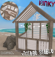 Fancy Stable ~ Vintage Edition (ᴘɪɴᴋ | ᴄʟᴀɪᴍᴇᴅ) Tags: vintage cage stable monthly kinky claimed cages ponygirl rlv
