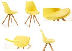 Bralf sedia legno e polipropilene rossa, nera, bianca, gialla, celeste (design italiano) Tags: sedia legno plastica monoblocco