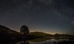 Yr Wyddfa a'r Llwybr Llaethog (mwng99) Tags: mountain lake cold water wales night way stars photo exposure fuji cymru trails snowdon multiple fujifilm shooting snowdonia milky merge nos yr refelction wyddfa eryri llyn llwybr mynydd xt1 lleathog