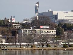 Mito Art Tower from Senba Lake (Shutter Chimp: Im back!) Tags: lake reflection tower water japan  mito  ibaraki keisei  senba