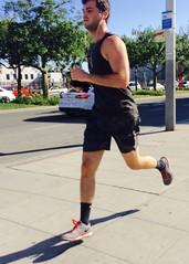 IMG_9050 (danimaniacs) Tags: street man hot sexy guy beard hunk run tanktop shorts runner westhollywood jog stud jogger scruff mansolo