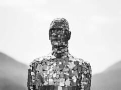 Sculpture (1M148395 E-M1 150mm iso100 f2.8 1_1000s) (Mel Stephens) Tags: uk bw sculpture art monochrome st silver mirror scotland long exposure olympus le pro modified loch gps hdr omd em1 2016 earn m43 q2 40150mm efex mirrorless fillians microfourthirds mzuiko 201605 20160514