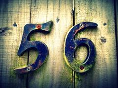 56 (Jackal1) Tags: wood old house metal rust gate decay panasonic numbers weathered 56