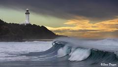 0S1A7999 (Steve Daggar) Tags: lighthouse seascape storm surf waves moody dramatic wave australia coastline norahhead soldiersbeach