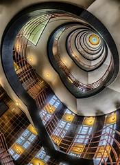 Hamburg Staircase (stefan.lafontaine) Tags: urban architecture germany deutschland europe hamburg 8 olympus staircase pro mm colourful zuiko em1 treppenhaus