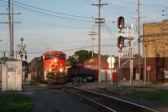 CN3011WaukeshaWI6-12-16 (railohio) Tags: cn trains waukesha wisconsin j3 061216 signals et44ac