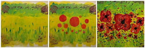 Creating a poppy painting