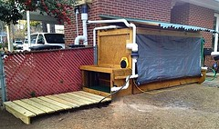 Cedar Works [water cabinet and related stores] (jalexartis) Tags: compost rainbarrel rainwater harvesting waterpurification slowsandfilter firstflush cedartowers 275gallontote cedarfarms
