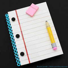 LEGO Notepad (bruceywan) Tags: college pencil lego bruce eraser pad note photostream notepad lowell lined moc ruled ib1 ironbuilder brucelowellcom ibblcom