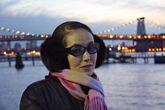 (JuhaOnTheRoad) Tags: woman usa newyork girl brooklyn river eastriver williamsburg yoko