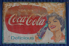 Delicious (Harvey Schiller - chateauglenunga) Tags: old sign vintage rust cola rusty coke delicious cocacola oldsign yesteryear