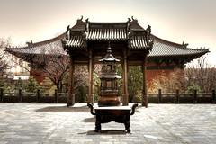 2011-04-17 The Shanhua temple, Datong during a dust storm (Pondspider) Tags: china temple shanxi 大同 datong sì shanhua anneroberts 善化寺 annecattrell dàtóng pondsider shànhùa