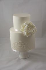 Ally Wedding Cake (Designer Cakes By Effie) Tags: wedding cake ivory peony elegant piping