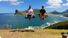 Hout Bay Jump the Sequel (FlavioSarescia) Tags: ocean blue beach nature southafrica fun jump funny lol capetown houtbay