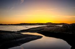 Sunset Calm (Sergei-P) Tags: light sunset sea sky sun water photoshop landscape nikon rocks sweden iso adobe 100 24mm f8 sergei varberg lightroom 1755 halland cs5 d7000 pitkevitch