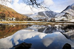 DSC_0119 Winter at Brothers Water (wilkie,j ( says NO to badger cull :() Tags: winter white snow mountains water clouds reflections landscape nikon lakedistrict cumbria nationalparks nationaltrust bothers hartsop scenicwater