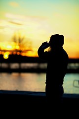 Too early or too late for coffee? (Vjeran Pavic) Tags: silhouette boston canon river charles esplanade