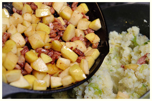 Bacon, Sprouts & Apple Mash