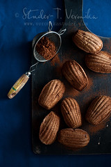 Cocoa madeleines (StuderV) Tags: food french dessert strawberry nikon sweet snack pastry cocoa madeleines foodphotography foodstyling d700 tabeltopstyling