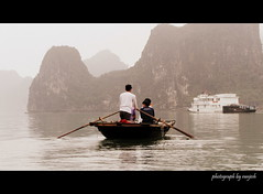 solitude with light (artistRanjesh2) Tags: sea water boats island bay vietnam waters halong halongbay