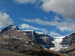 IMG_1697 (Lord Walt) Tags: park travel blue light sky canada mountains ice nature rock clouds canon landscapes daylight nationalpark scenery view country peaceful powershot historic glacier alberta vista daytime geology tranquil jaspernationalpark columbiaicefield canadianrockies athabascaglacier hwy93 theicefieldsparkway waltphotos lordwalt sx30is