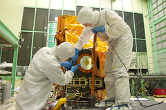 Assembly of Landsat's TIRS Instrument (NASA Goddard Photo and Video) Tags: water weather space nasa landsat cleanroom tirs goddardspaceflightcenter