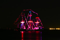 Gasparilla Pirate Ship (Bay Stage Live) Tags: lighting tampa gasparilla pirateship