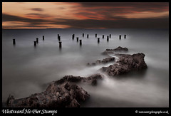 Westward Ho Old Pier Stumps (Rob Kendall (aka minolta mad)) Tags: old sunset sea pier sony north photographic devon lee ho filters stumps westcountry westward a900 robkendall oldpierhouse