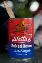 What's better than baked beans. Baked beans with sausages! (Aaron K Hall) Tags: food canon australia canned sausages queensland bakedbeans balgalbeach