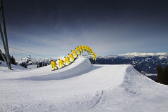 Whistler Sequence - 15/2/12 Explored (Sam Wiles) Tags: mountain snow tree yellow canon whistler interestingness skiing dramatic explore 7d sequence blackcomb 17mm