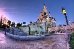 The Magic Village (J.P | Photography) Tags: life light wallpaper sky paris colors night mac aperture nikon raw angle disneyland ps disney mickey fisheye jp 28 bluehour 105 hdr parisian bois hdri waltdisney photographe parisien heurebleue jpphotography d7000 djpig91