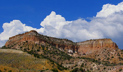 New Mexico colors (byrdiegyrl) Tags: 2005 blue sky white newmexico color rock clouds desert fluffy thechallengefactory