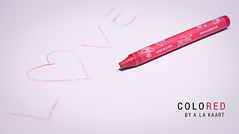ColoRED (Photography Bart Tanghe) Tags: stilllife abstract slr love digital typography 50mm nikon artistic letters creative minimal d200 crayon nikkor slogan f28 artisticphotography