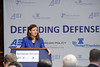 Senator Ayotte addressing the Defending Defense Forum on Capitol Hill
