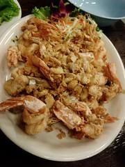 Garlic and pepper prawn @ เจ๊นุ้ยซีฟู้ด