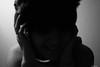 Will your story make me feel merry? (Olalla Esquimal) Tags: bw white selfportrait black blanco girl smile face photo foto chica adolescente negro cara bad bn teen desenfoque teenager sonrisa autorretrato mala selfie ruido agostoesquiimal