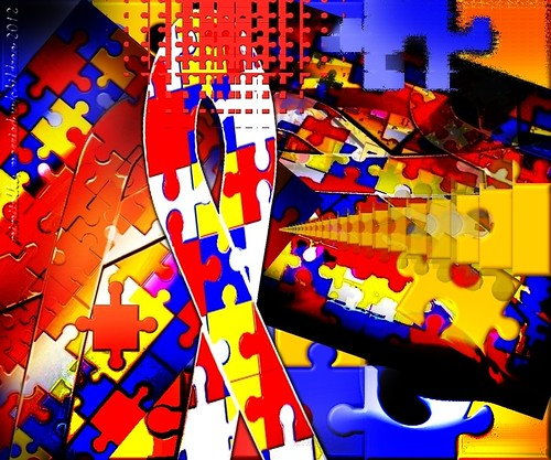 """Cacophony of Autism anguish revisited"" - with signature this time"" - Digital Art Design by mimitalks, married w/children"
