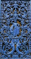Rochefort, Charente-Maritime (Marie-Hélène Cingal) Tags: door blue france southwest puerta iron wroughtiron bleu porta 17 porte portal tür fer ferro rochefort hierro sudouest charentemaritime ferforgé poitoucharentes detalhesemferro