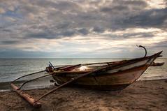 Beached (benchorizo) Tags: beach boat nikon day cloudy philippines hdr iloilo banias d90 oton singlerawhdr benchorizo