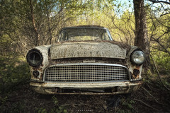ford consul (explore #22) ([AndreasS]) Tags: old white classic ford abandoned graveyard car canon lost moss woods rust ride sweden decay secret cemetary wheels picture explore forgotten vegetation bil vehicle sverige derelict vestre rustne consul gammel rusten tapt bilvrak forlatt delagt glemt bstns fgelvik bilkirkegrd 5dm2 btsnes