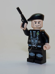 Custom Spy (Kralcman) Tags: lego pistol spy beret silencer brickarms gibrick