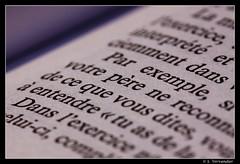 """Words"" - Macro - Oct 2011 (seb.vervandier) Tags: macro canon book words sigma 150mm 50d"