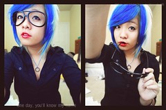 ADD ME (H Noodle) Tags: blue portrait vintage hair sushi asian happy photography weird hipster chick doodle blond craig jonny noodle con cau n mo v ti n tr cy  thch ung tro tumblr hnoodle