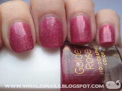 holo 120 (Whale'sNails) Tags: swatch nailpolish holographic holo goldenrose whalesnails