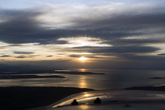 Sun Sets After Some Great Flying (Pilot's Eye Photography) Tags: sunset sea sky sun mountains water flying cessna 172