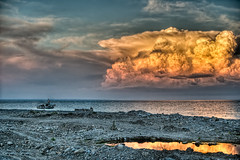 Waiting for the storm (Photos On The Road) Tags: sunset sea sky cloud costa seascape storm reflection nature water clouds evening coast boat mediterranean mediterraneo barca tramonto nuvole mare cloudy outdoor stormy shore cielo weathered coastline seashore hdr cloudscape elaborazioni orizzontale tempestoso mygearandme