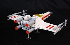 T65 X Wing A (Babalas Shipyards) Tags: rebel star model fighter ship lego vessel scifi xwing wars moc t65 incom