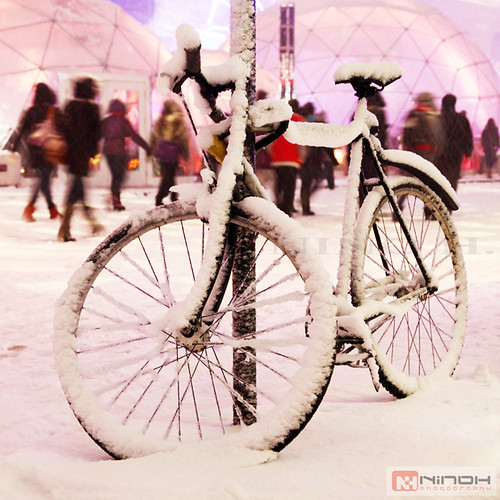Bike under the snow - Montreal